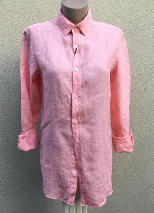 Новая,лен100%,рубашка,блуза,унисекс,маленький размер