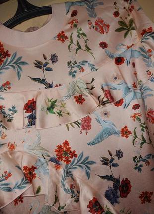 Яркая блуза с лебедями3 фото