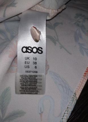 Яркая блуза с лебедями7 фото
