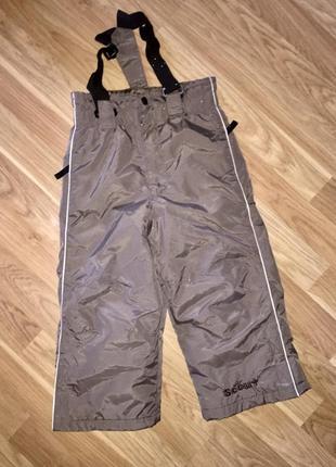 Лыжник лыжные штаны оливковые на мальчиков 2-4 лет