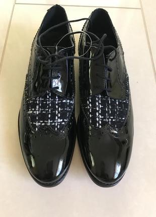 Туфли лоферы кожаные стильный модный дорогой бренд cosmoparis размер 41