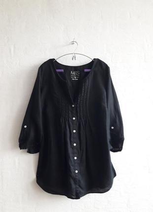 Стильная льняная блузочка, рубашечка, бренда m&s,подойдет на 52,54 р.