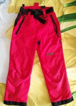 Демисезонные лыжные штаны брюки trespass 140 см