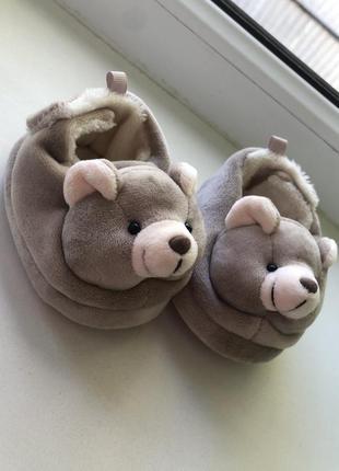 Тапочки пинетки тёплые, мишки
