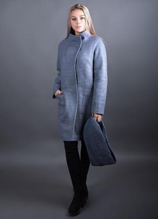Утепленное кашемировое пальто