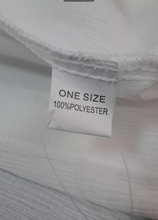 Пляжная туника-рубашка белая6 фото