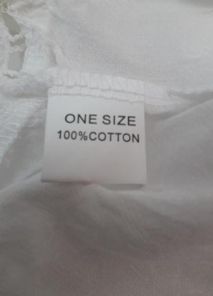 Пляжное платье короткое белое на длинный рукав6 фото
