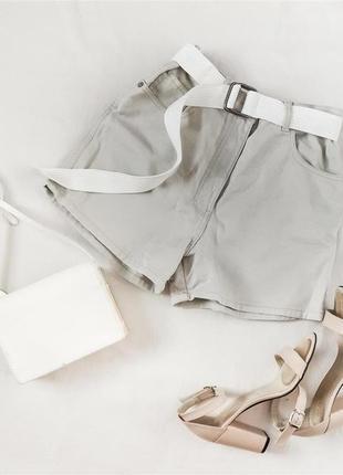 Джинсовые шорты с высокой талией завышенной посадкой casuals