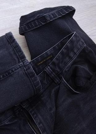 Бойфренды authentic denim стрейчевые джинсы с средней посадкой серые