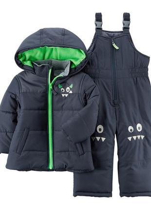 Комбинезон 2в1 зимний для мальчика картерс (куртка+штаны) в наличии