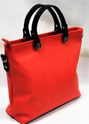 Стильная женская сумка камелия терракотовая украина