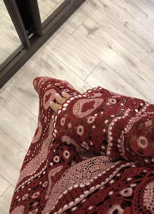 Роскошное вязанное длинное платье миди в стиле 70-х zara4 фото