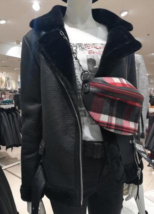 Крутая дубленка парка куртка пальто осеняя  yessica женская