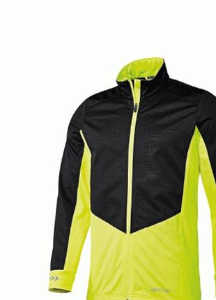 Велосипедная куртка от дождя crivit windstopper черный/салатовый