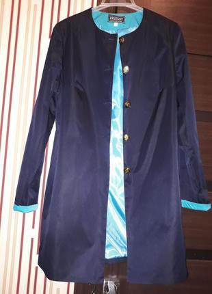 👍 кардиган пиджак на подкладке тёмно синий бирюза