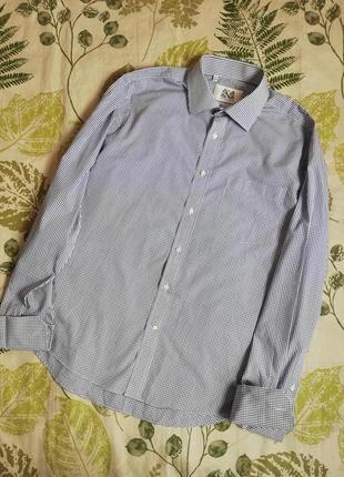 Фирменная шикарная рубашка под запонки next 100% коттон