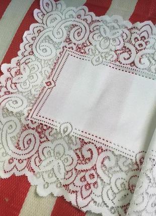 Шикарная новая винтажная кружевная английская скатерть nottingham
