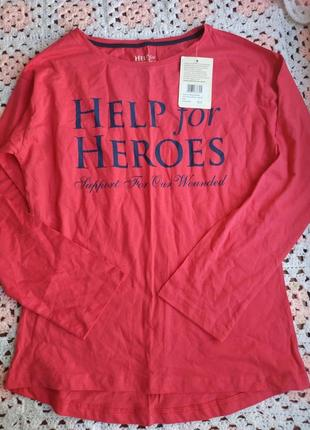 Новая котоновая кофточка help for heroes