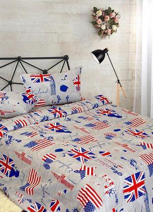 Стильный постельный комплект american dream, полуторка в наличии