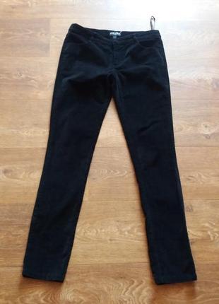 Черные брюки-скини бархат fever city