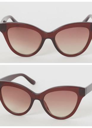 Солнцезащитные очки н&м, кошачий глаз