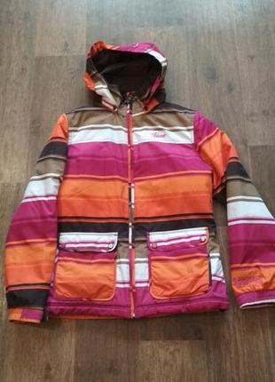 Лыжная яркая куртка protest + ветровка в подарок