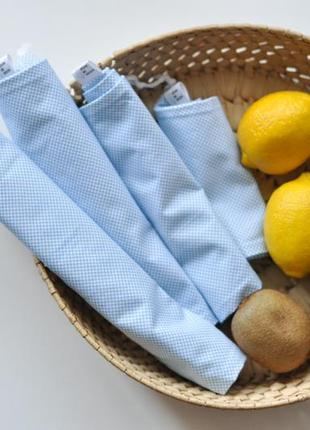 Набір бавовняних еко мішечків, зберігання органайзер эко мешочки хлопковый мешочек