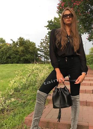6 цветов! сумка 2в1 мешок повседневная черная шопер с косметичкой кросс боди2 фото