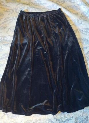 Нарядная бархатная юбка миди anne smith