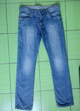 Прямые узкие джинсы на подкладке, германия,качество, here there c&a, размер 172
