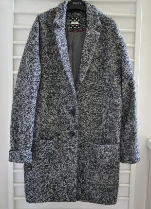 Шерстяное пальто оверсайз next