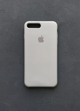 Серый силиконовый чехол на айфон 8