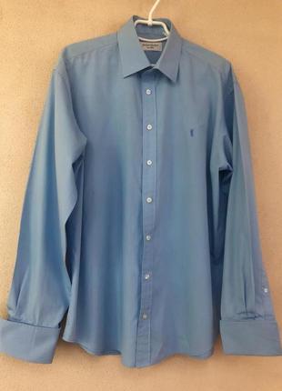 Брендовая рубашка под запонки,3xl-4xl