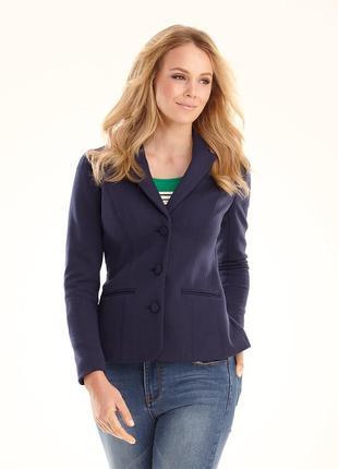 Lerros германия котоновый синий офисный пиджак на подкладке оригинал распродажа