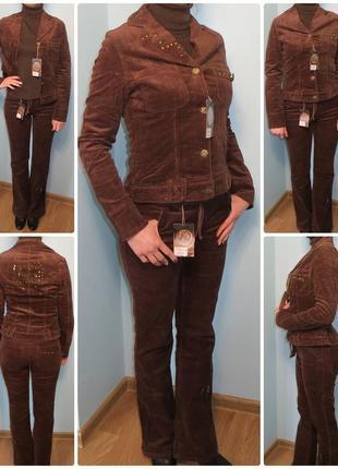 Костюм женский вельветовый брючный, пиджак, брюки, джинсы, жіночий вельвет, джинси