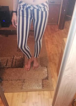 Скины джинсы в полоску