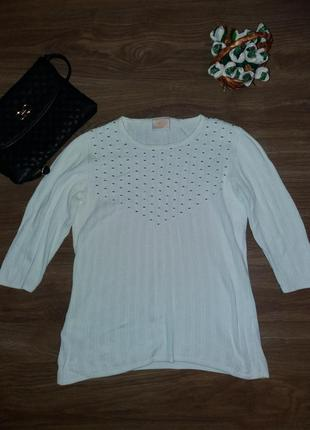 Белый свитерок осенний country casuals р.8-10 (s-m)