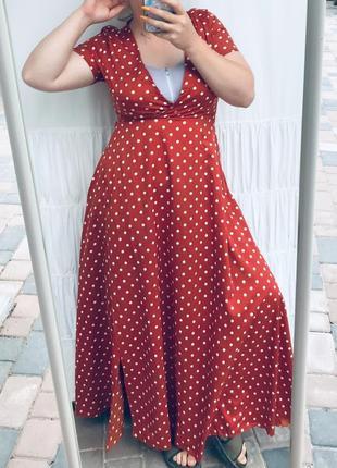 Круте плаття в горошок на запах8 фото