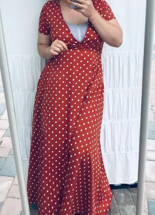 Круте плаття в горошок на запах9 фото