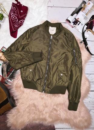 Идеальный болотный бомбер куртка цвета хаки