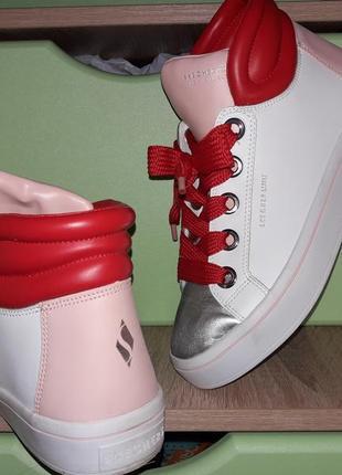 Нереально крутые кроссовки хайтопы из сша. нат кожа. мемори стелька4 фото
