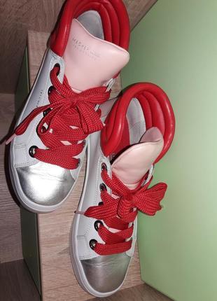 Нереально крутые кроссовки хайтопы из сша. нат кожа. мемори стелька6 фото