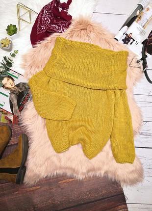 Обалденнейший шерстяной свитер с воланом на плечи