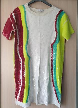 Платье next в пайетках