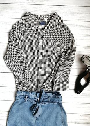Рубашка в принт гусиная лапка