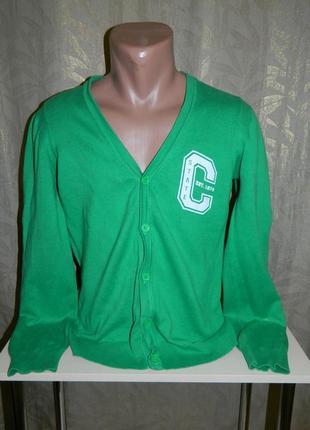 Кофта мужская зеленая на пуговицах размер 44-46 new look.