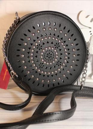 Круглая чёрная сумка 💃🏻+видеообзор
