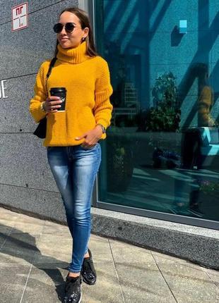 Теплый свитер-снуд 44-50 рр