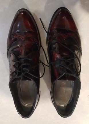 Крутые оксфорды, броги, туфли estro - 40 - на 39, 40
