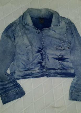 Укороченная джинсовая куртка болеро vero moda